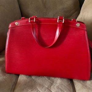 Louis Vuitton Red Brea MM Epi